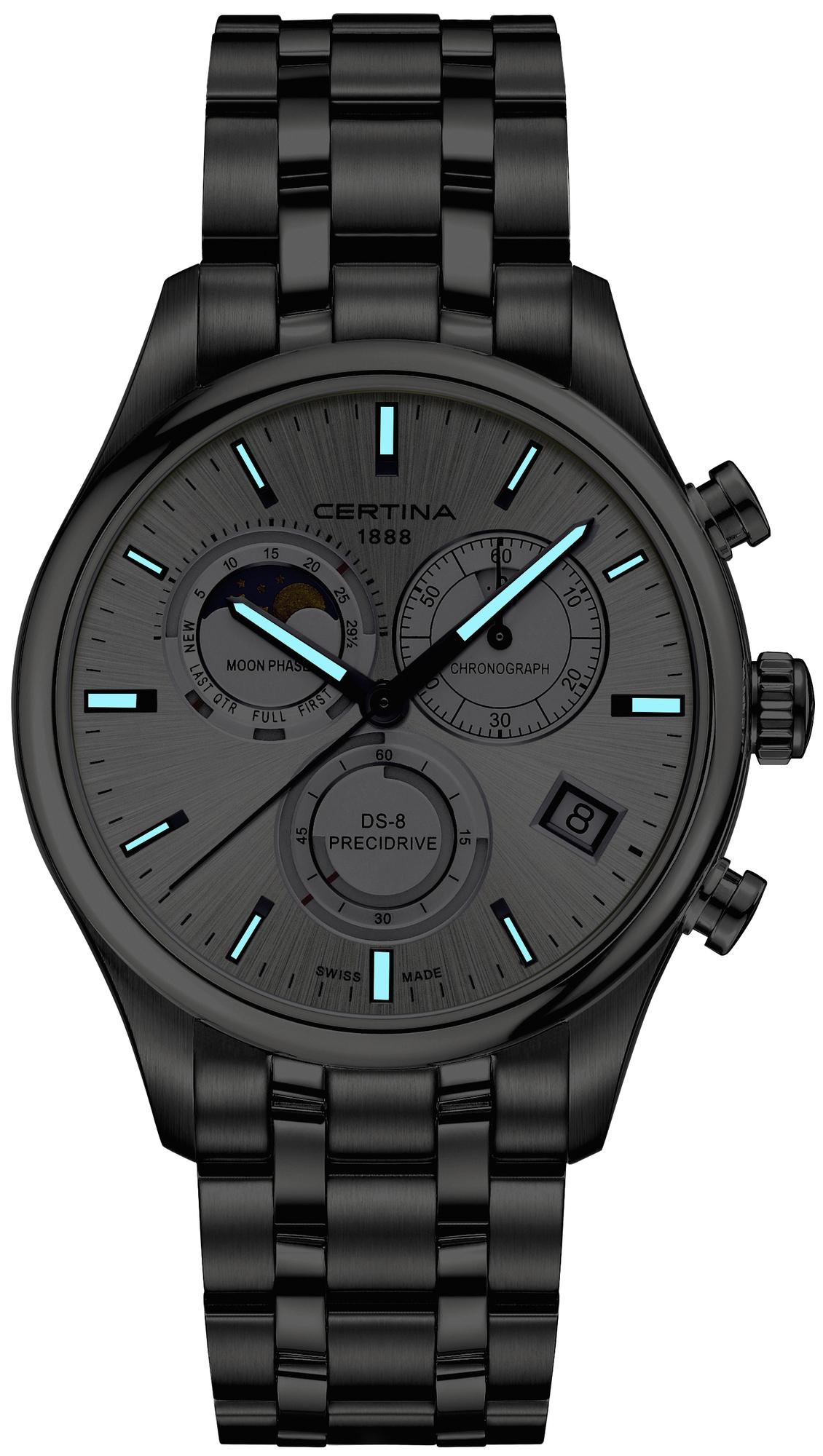 zegarek Certina C033.450.11.031.00 DS-8 Chronograph Moon Phase męski z chronograf DS-8