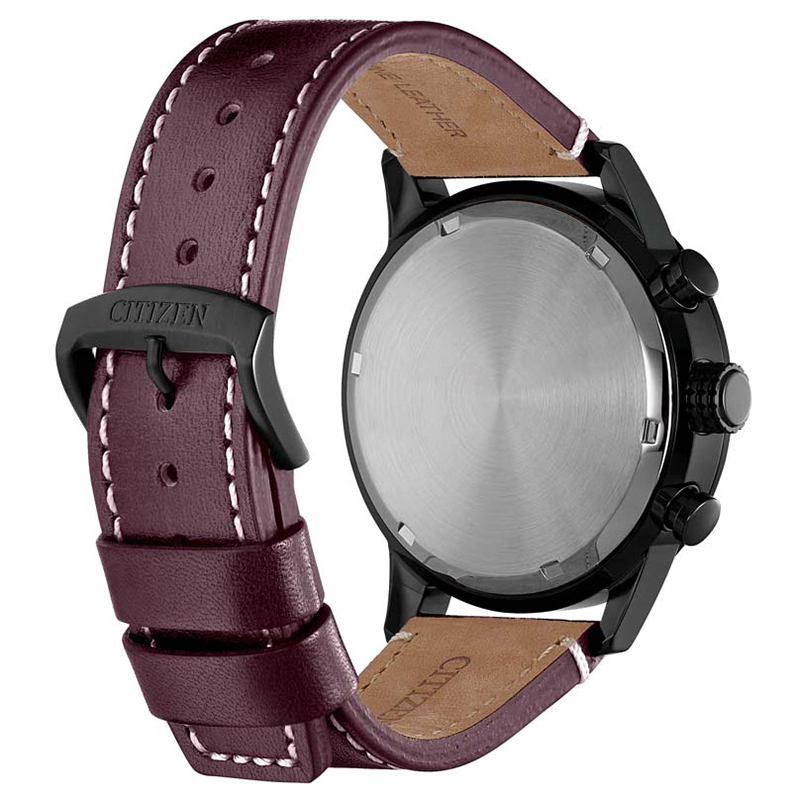 Citizen CA0745-11E zegarek czarny klasyczny Ecodrive pasek