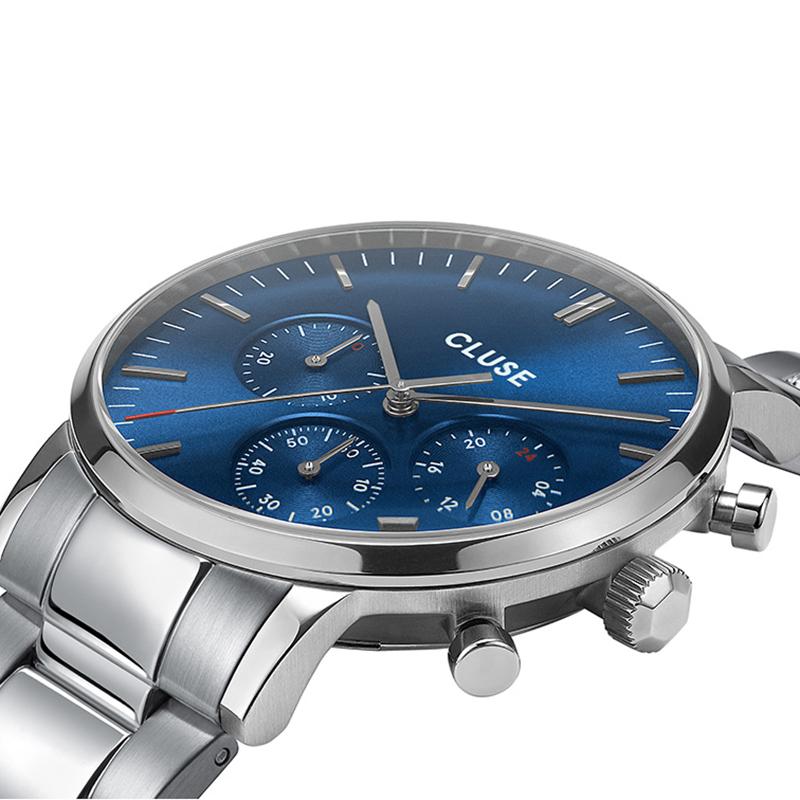Cluse CW0101502011 zegarek srebrny sportowy Aravis bransoleta