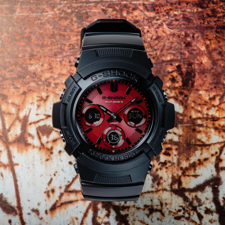 Casio AWG-M100SAR-1AER zegarek czarny sportowy G-SHOCK Original pasek