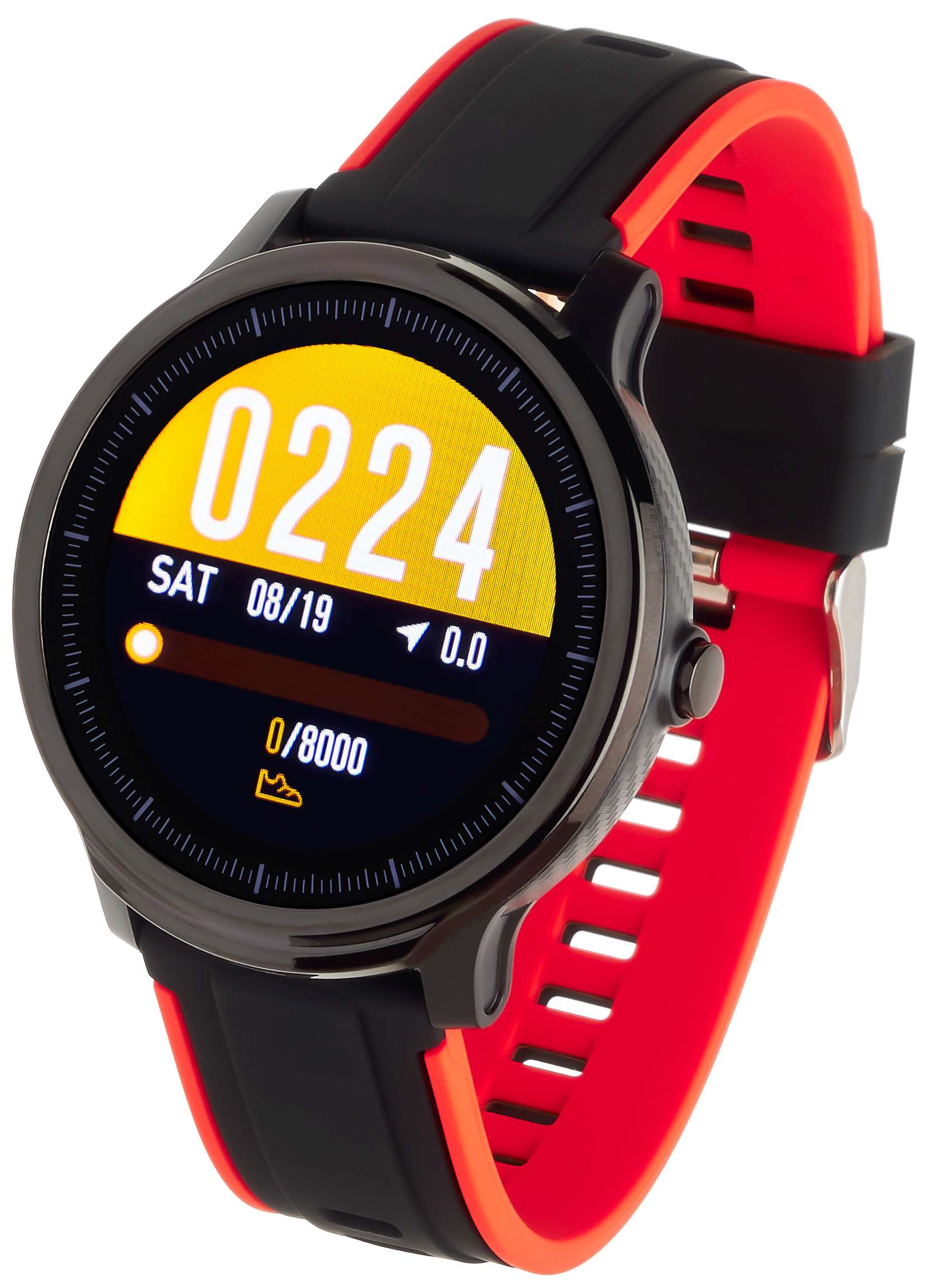 Garett 5903246286687 zegarek czarny sportowy Męskie pasek