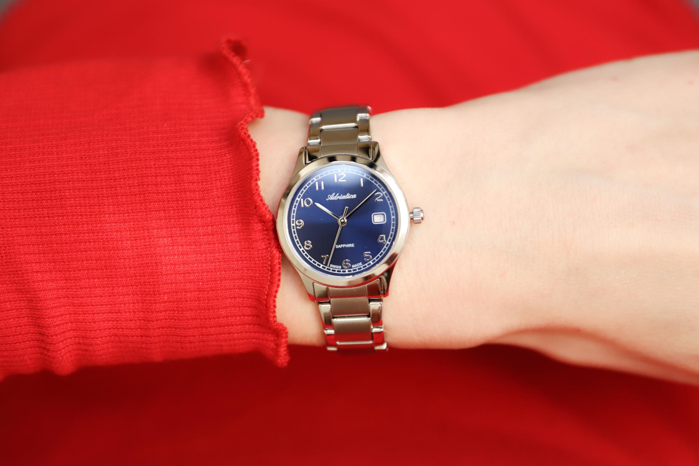 Adriatica A3164.5125Q zegarek srebrny klasyczny Bransoleta bransoleta