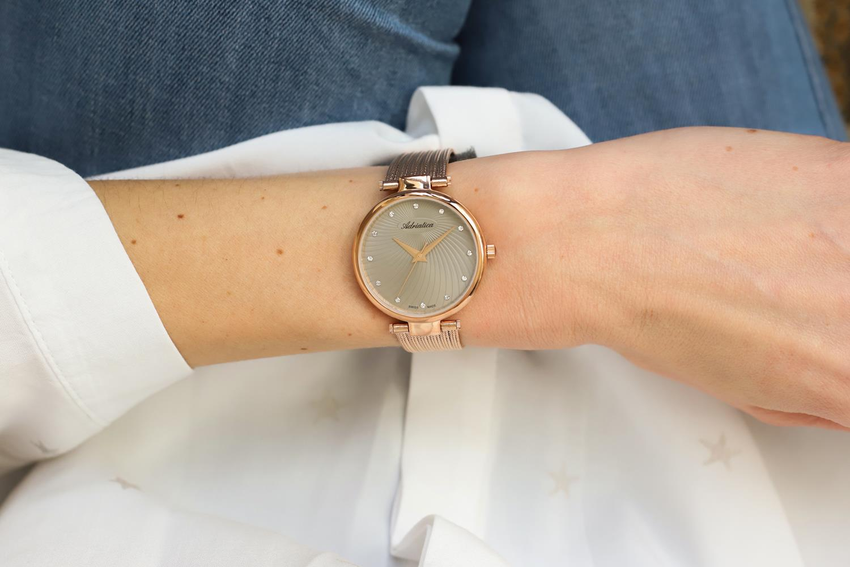 Adriatica A3689.9147Q zegarek różowe złoto elegancki Bransoleta bransoleta