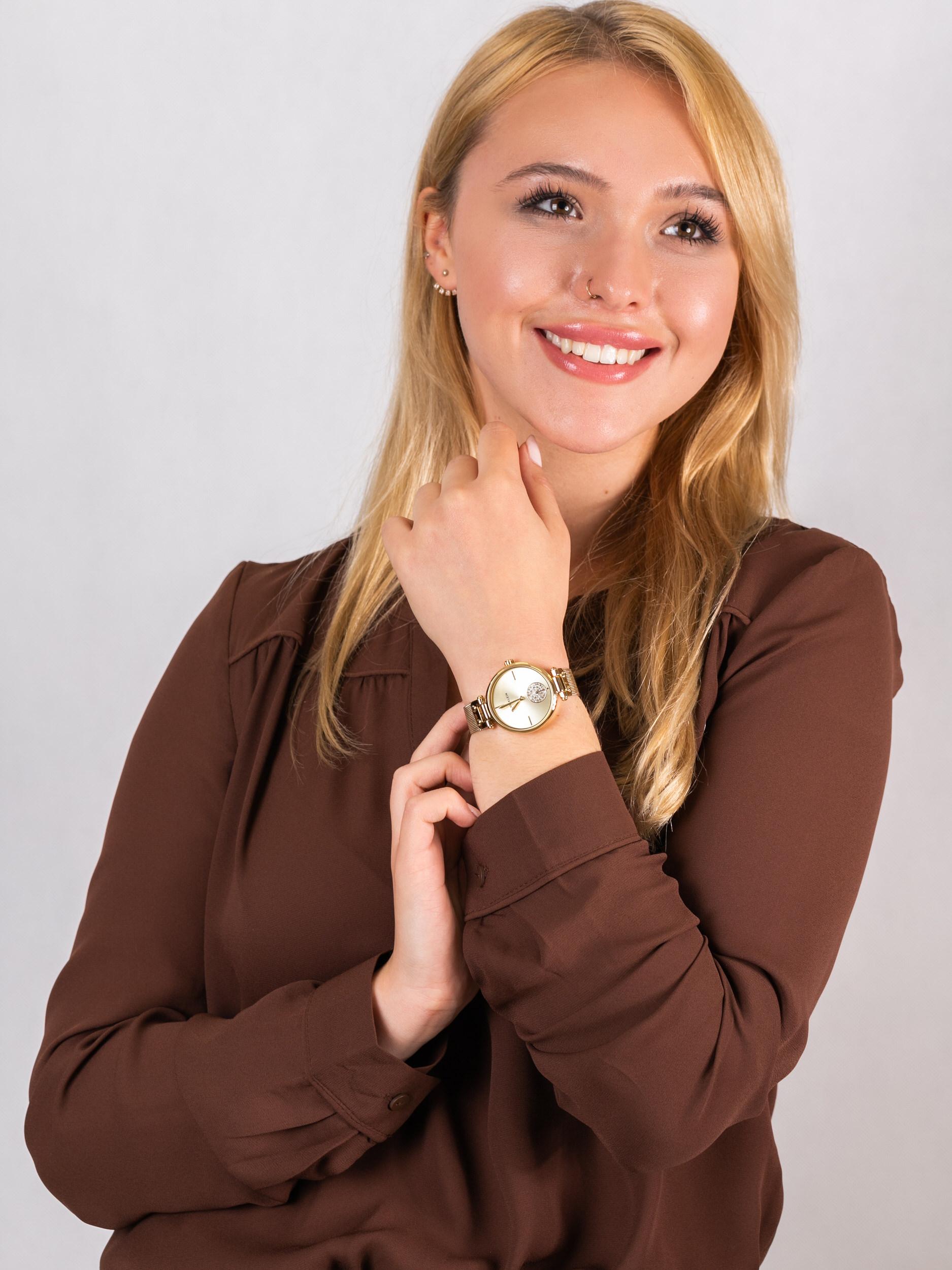Anne Klein AK-3000CHGB zegarek damski Bransoleta
