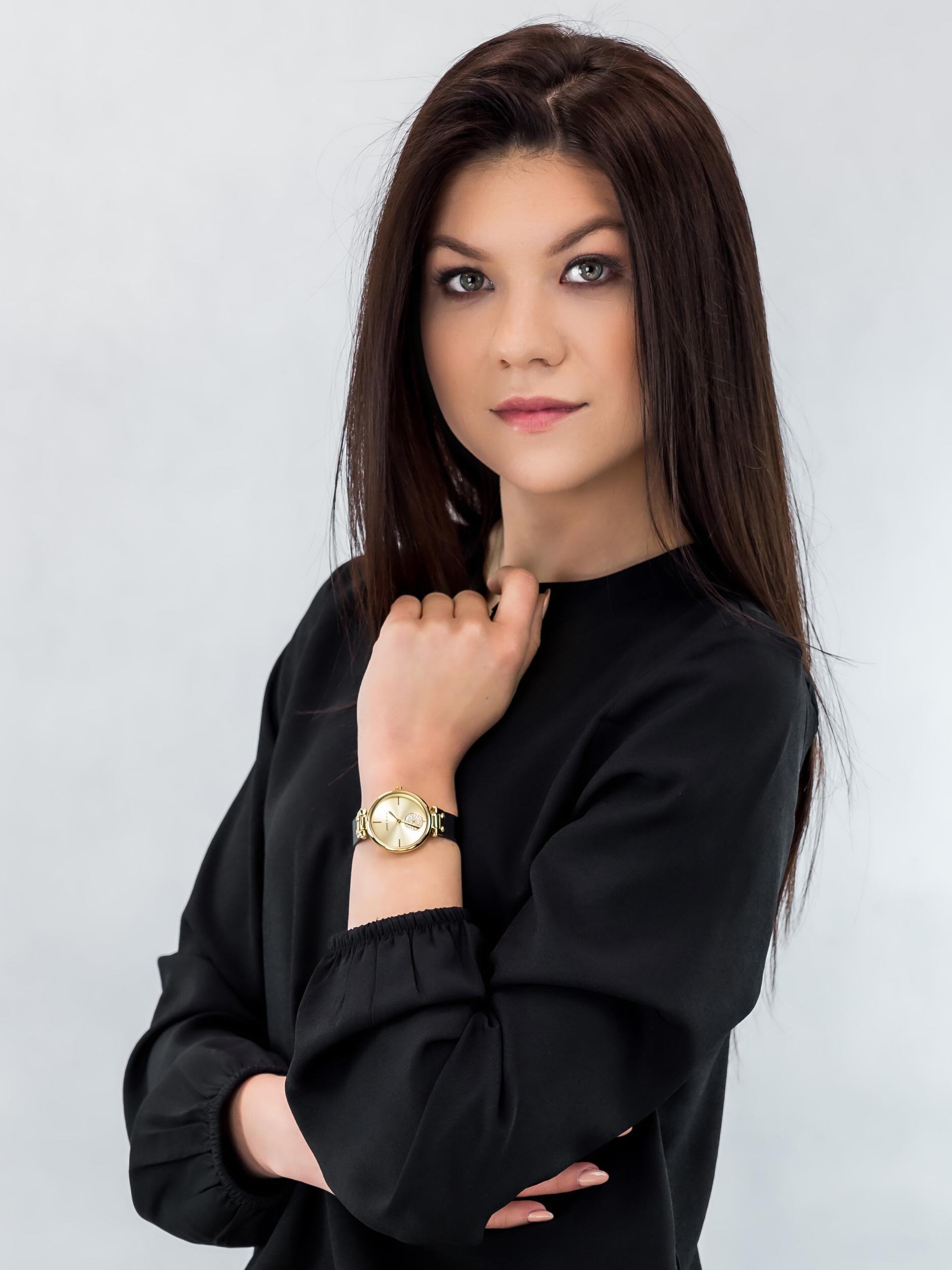 Anne Klein AK-3001CHBK zegarek damski Bransoleta