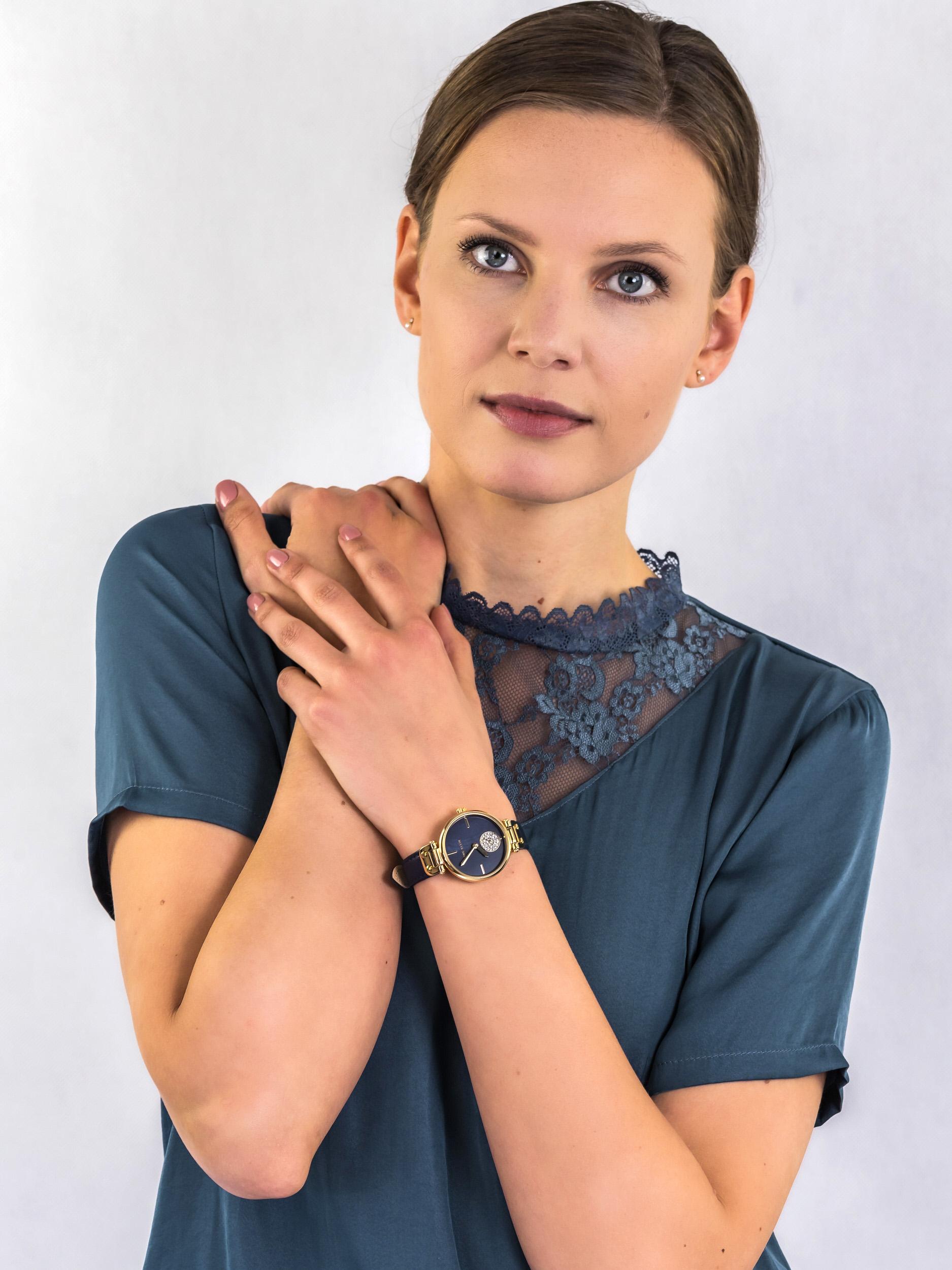 Anne Klein AK-3380NMNV zegarek damski Pasek