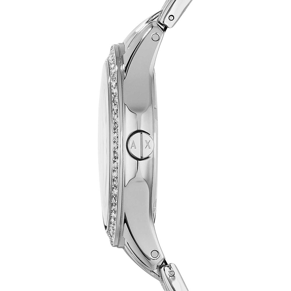 Armani Exchange AX5215 zegarek srebrny klasyczny Fashion bransoleta