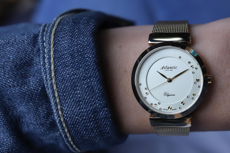 zegarek Atlantic 29039.45.39MB złoty Elegance