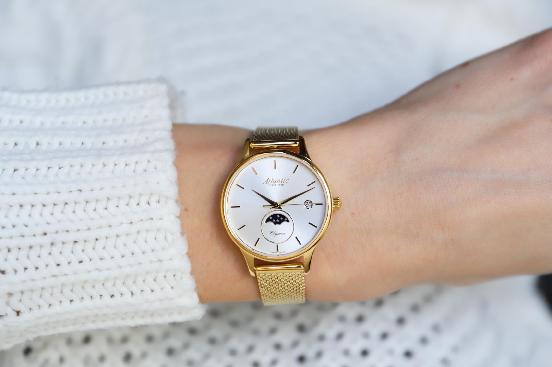 zegarek Atlantic 29040.45.21MB kwarcowy damski Elegance