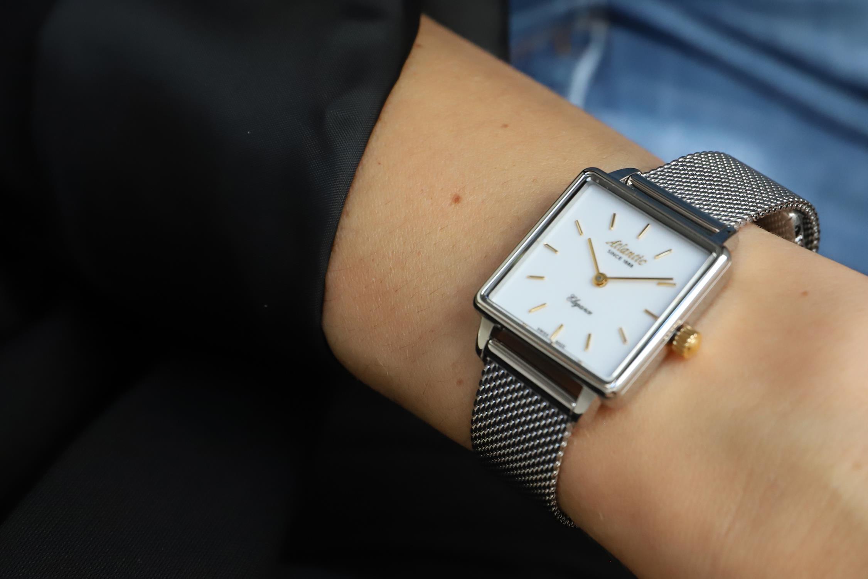 Atlantic 29041.41.11GMB zegarek srebrny klasyczny Elegance bransoleta