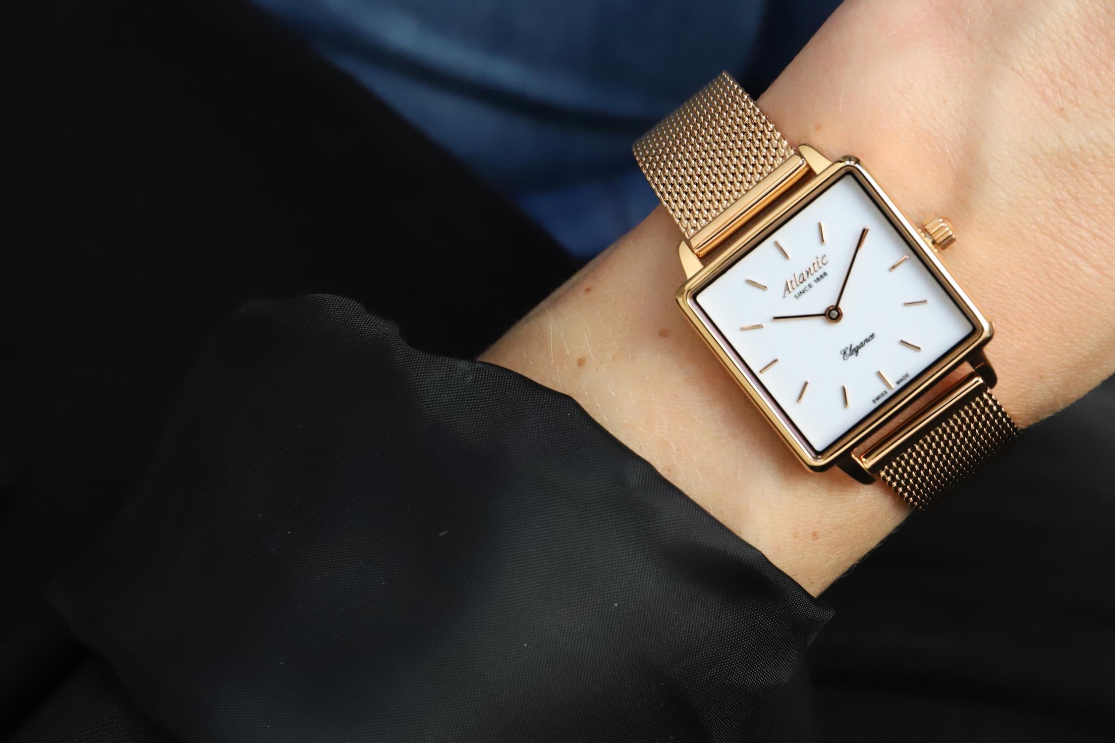 Atlantic 29041.44.11MB zegarek różowe złoto klasyczny Elegance bransoleta