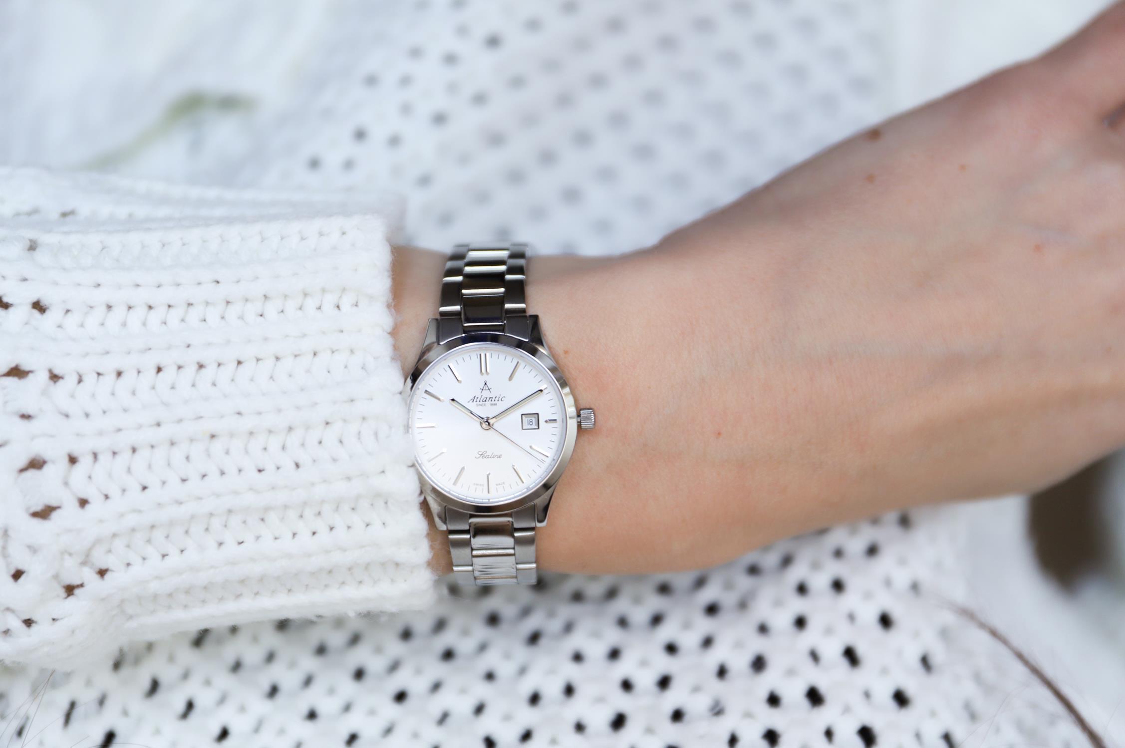 Atlantic 22346.41.21 zegarek srebrny klasyczny Sealine bransoleta