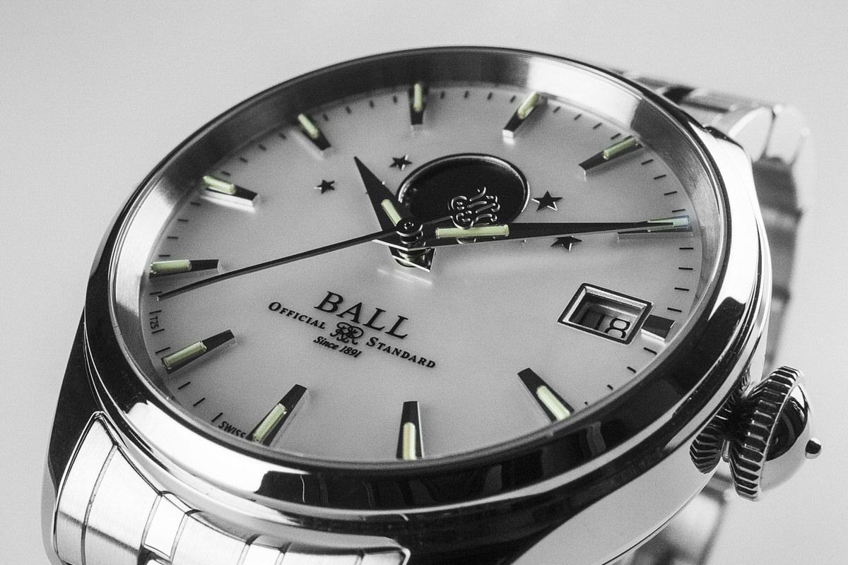 Ball NL3082D-SJ-WH zegarek srebrny klasyczny Trainmaster bransoleta