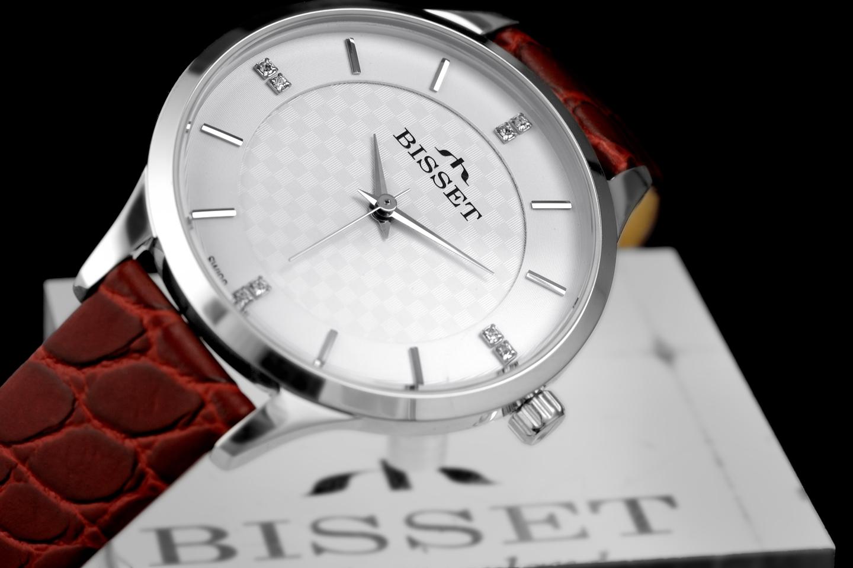 Bisset BSAE58SISR03BX Klasyczne zegarek damski klasyczny mineralne