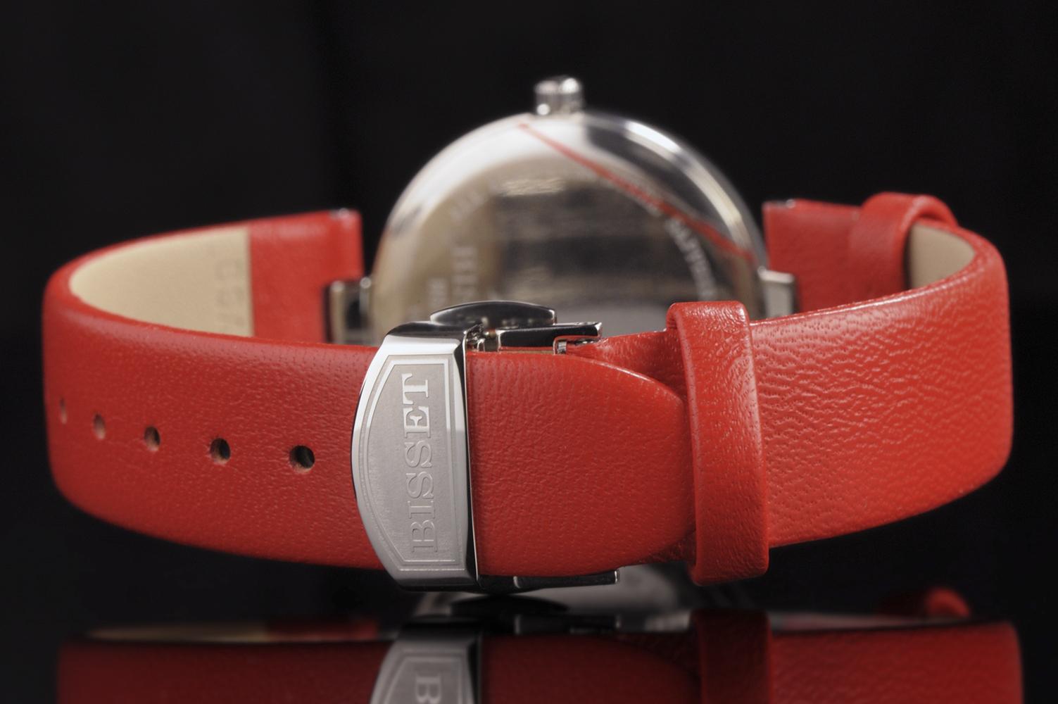 Bisset BSAF21SISX03BX damski zegarek Klasyczne pasek