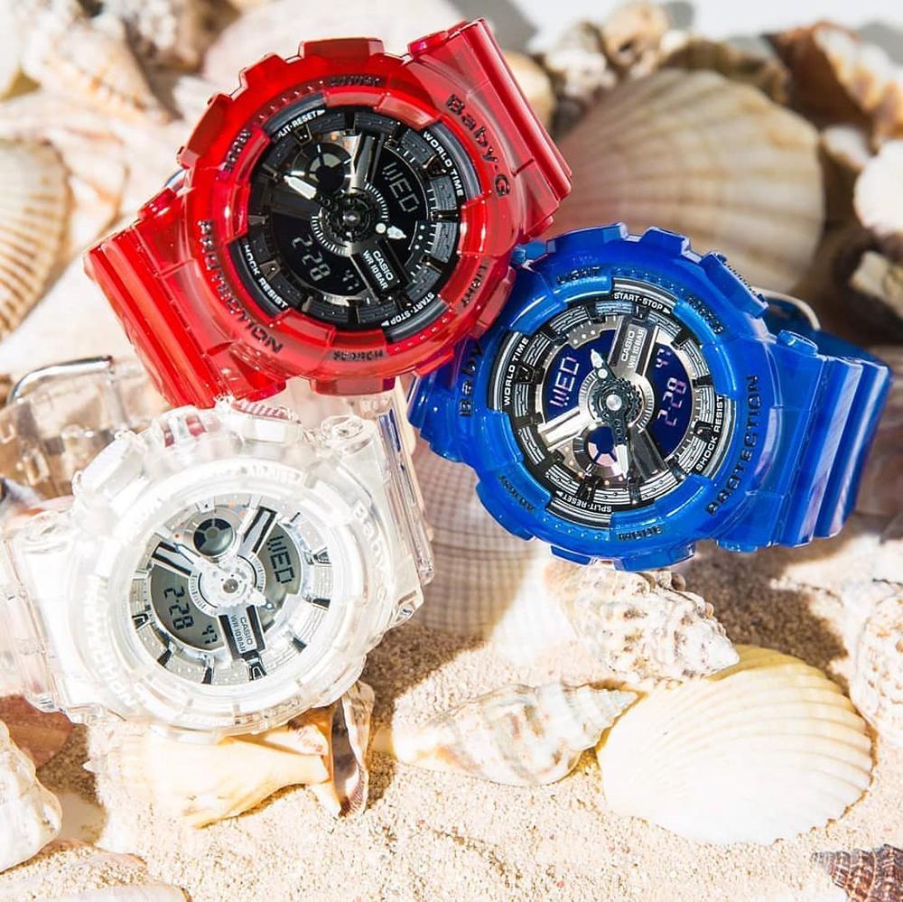 Baby-G BA-110CR-4AER zegarek czerwony sportowy Baby-G pasek
