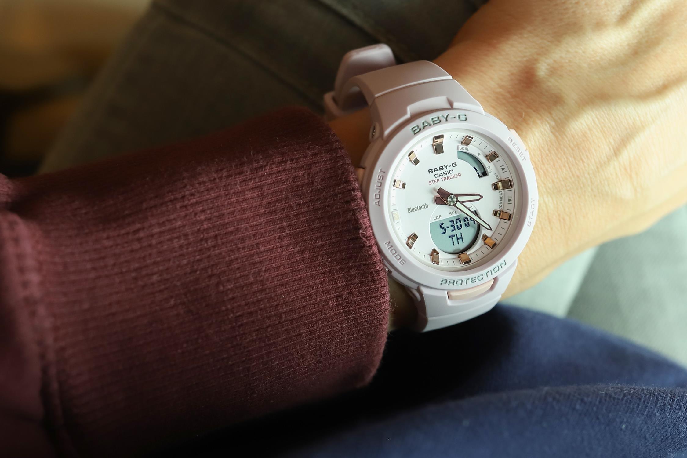 Baby-G BSA-B100-4A2ER Baby-G sportowy zegarek różowy