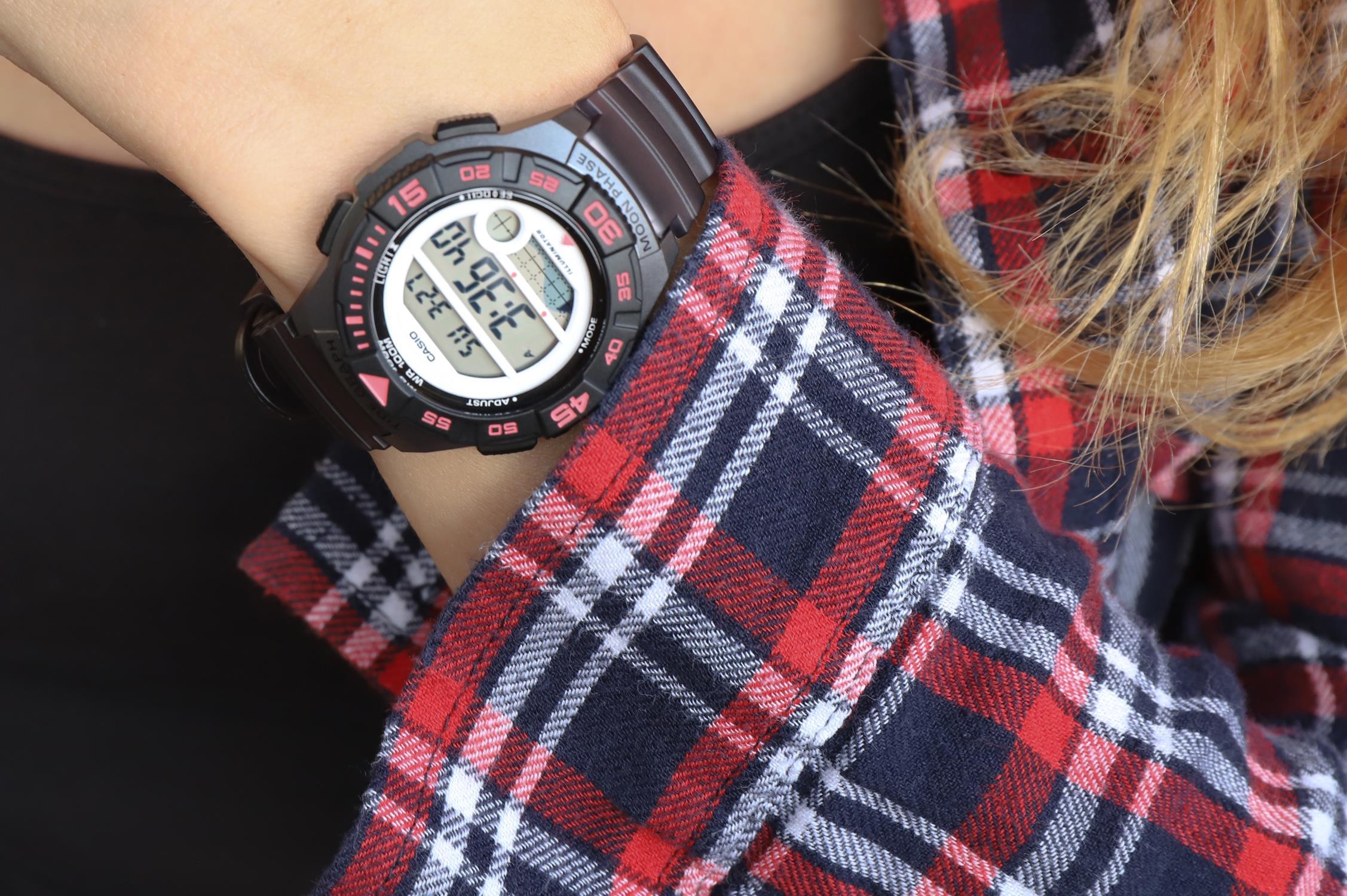 zegarek Casio LWS-1100H-8AVEF szary Klasyczne