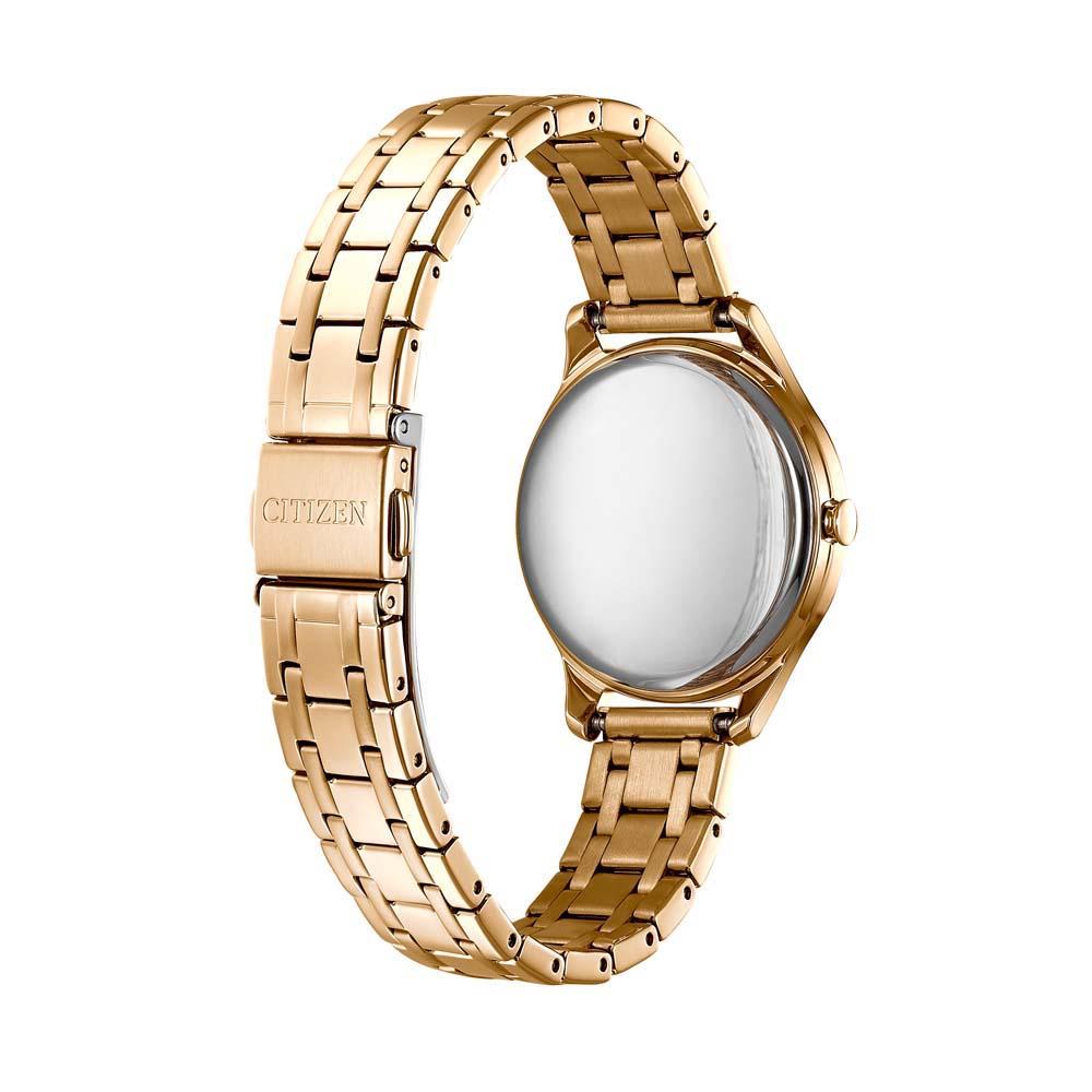 Citizen EM0503-75X zegarek różowe złoto klasyczny Ecodrive bransoleta
