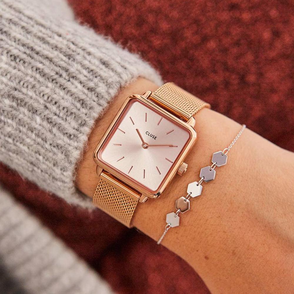 Cluse CW0101207009 Full Rose Gold zegarek klasyczny La Tetragone