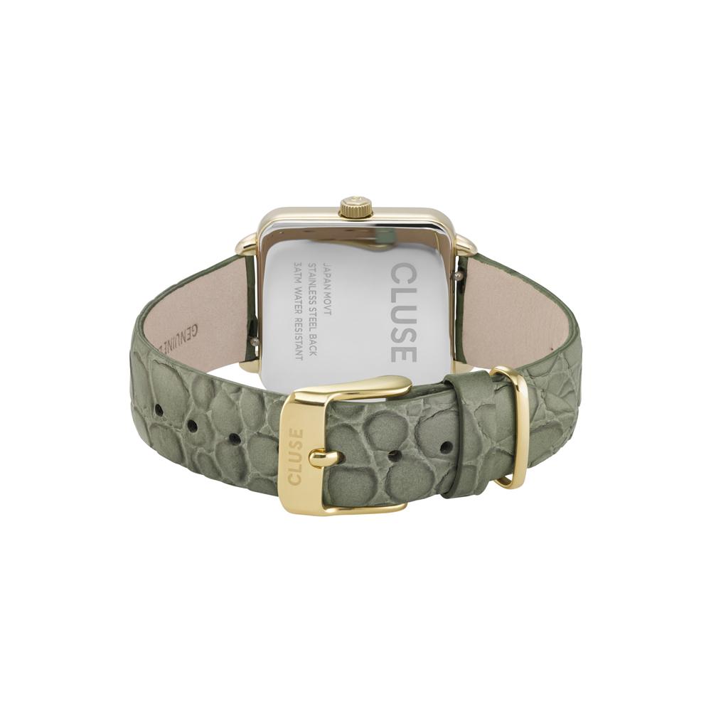 Cluse CW0101207016 zegarek złoty klasyczny La Tetragone pasek