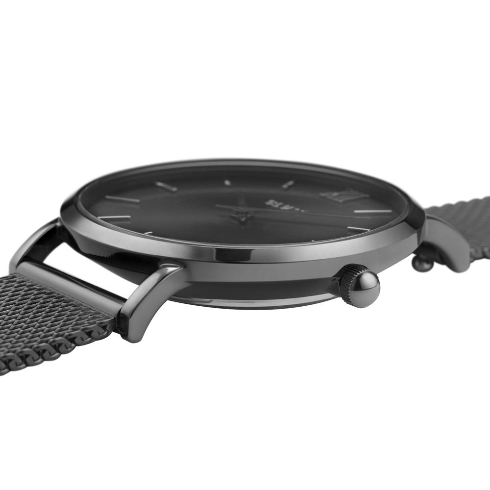 Cluse CW0101203025 zegarek szary klasyczny Minuit bransoleta