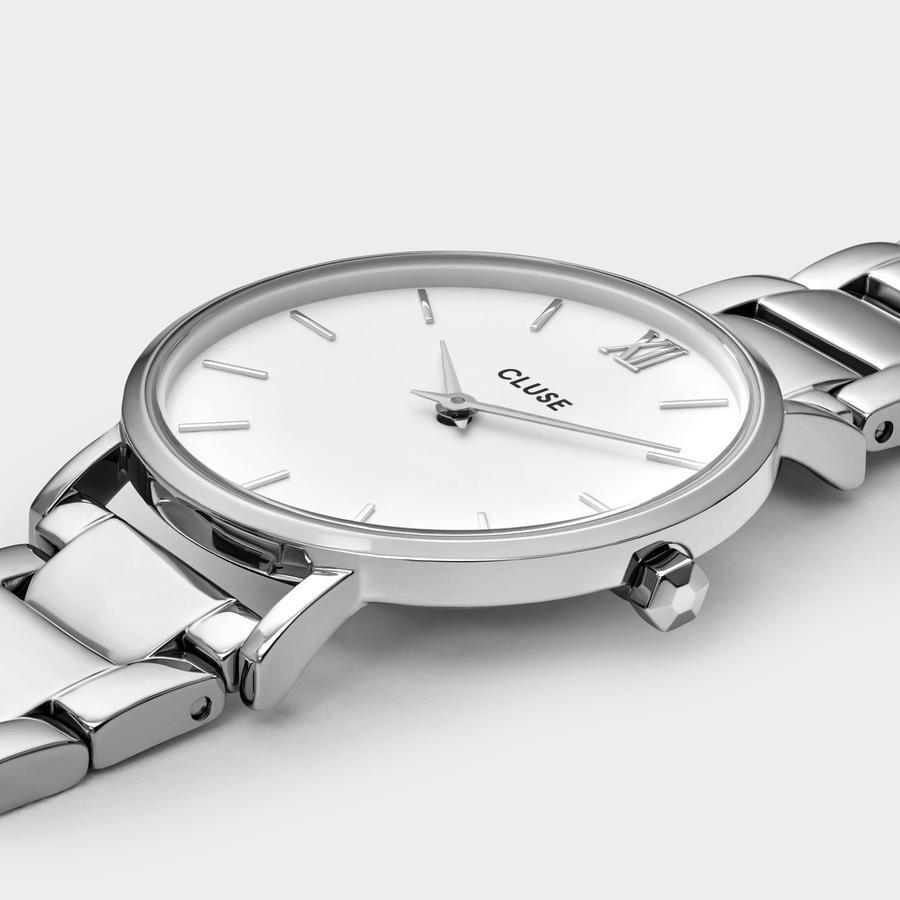 zegarek Cluse CW0101203026 kwarcowy damski Minuit Silver White