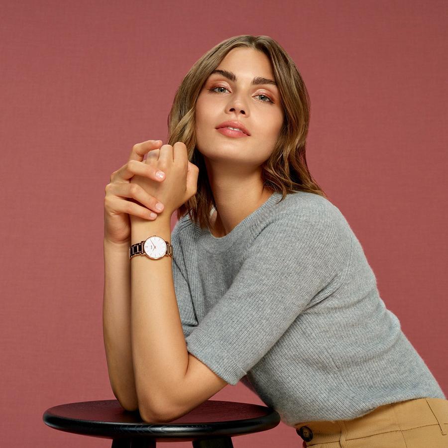 Cluse CW0101203027 zegarek różowe złoto klasyczny Minuit bransoleta