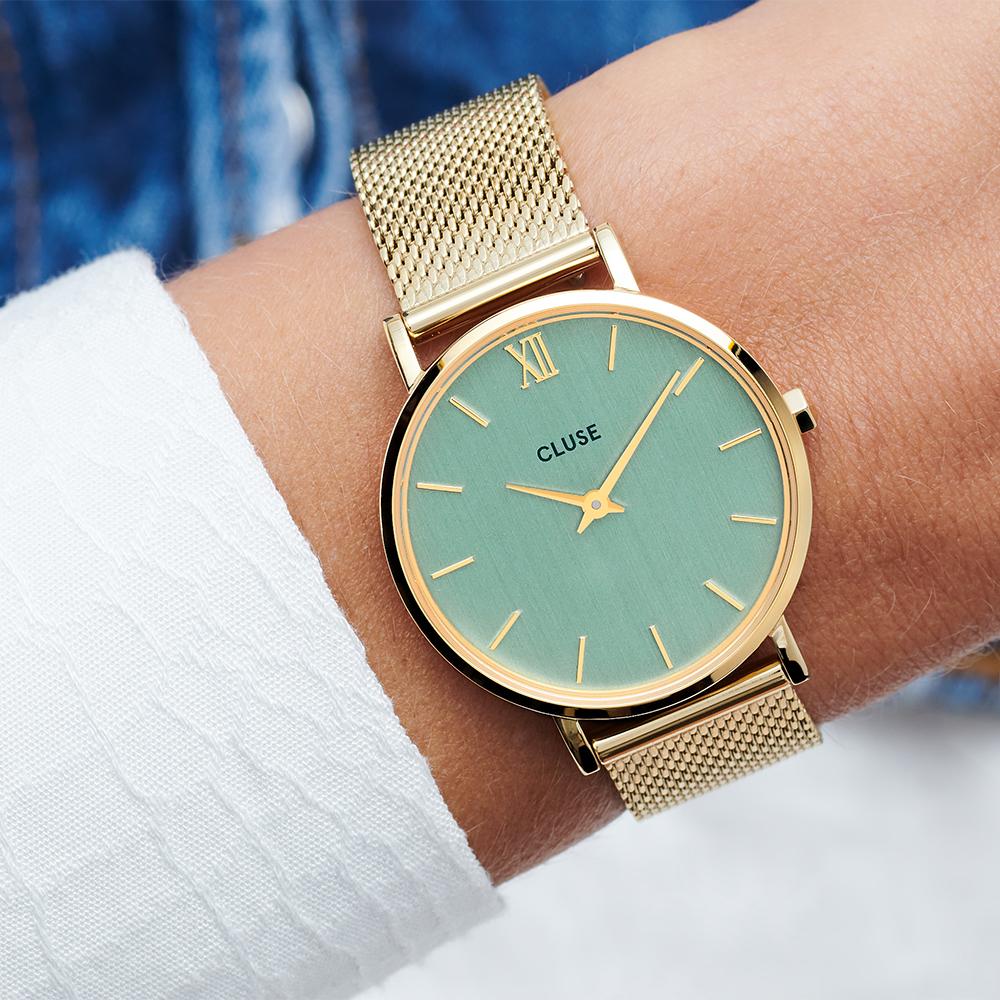 Cluse CW0101203030 zegarek złoty fashion/modowy Minuit bransoleta