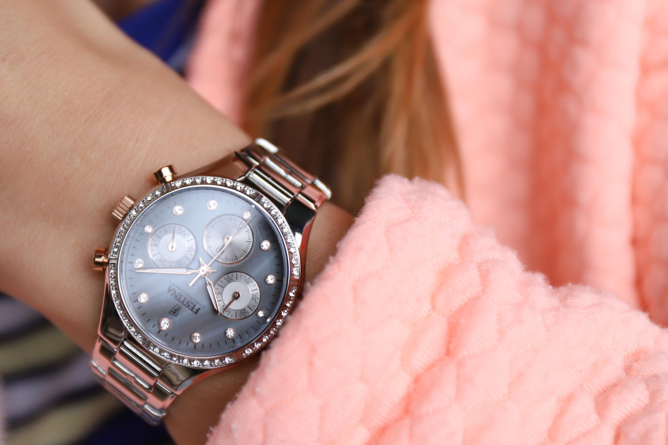 zegarek Festina F20401-3 kwarcowy damski Boyfriend Boyfriend Collection Chronograph