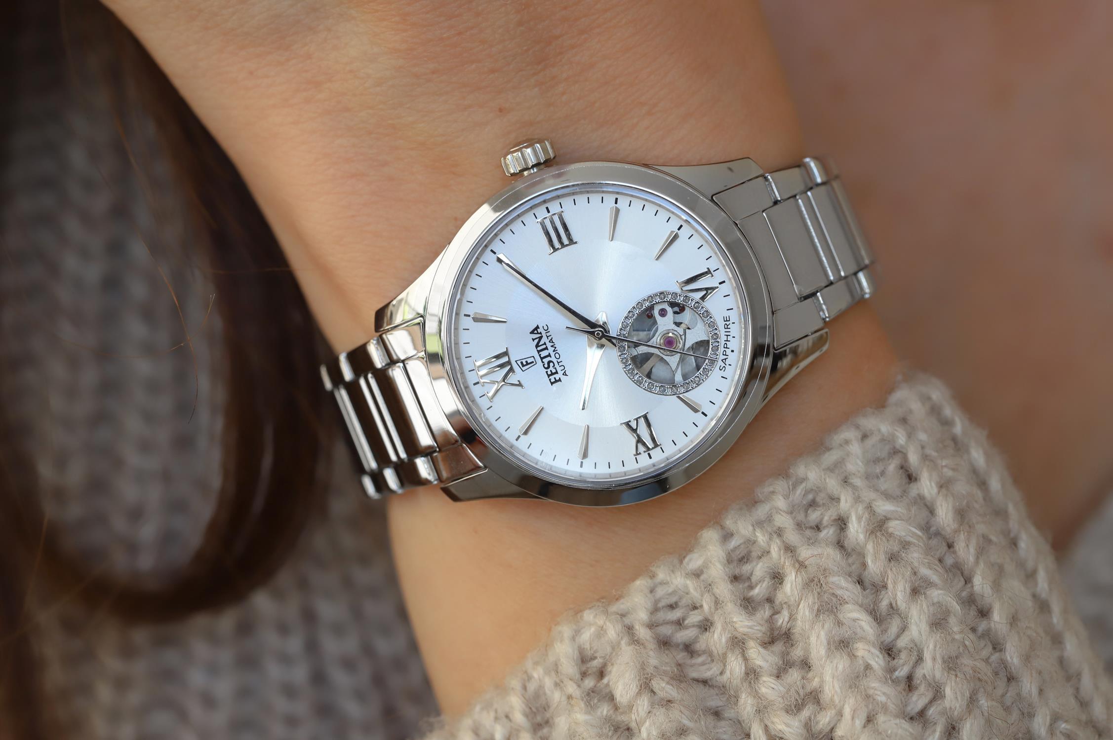 Festina F20488-1 zegarek srebrny klasyczny Classic bransoleta