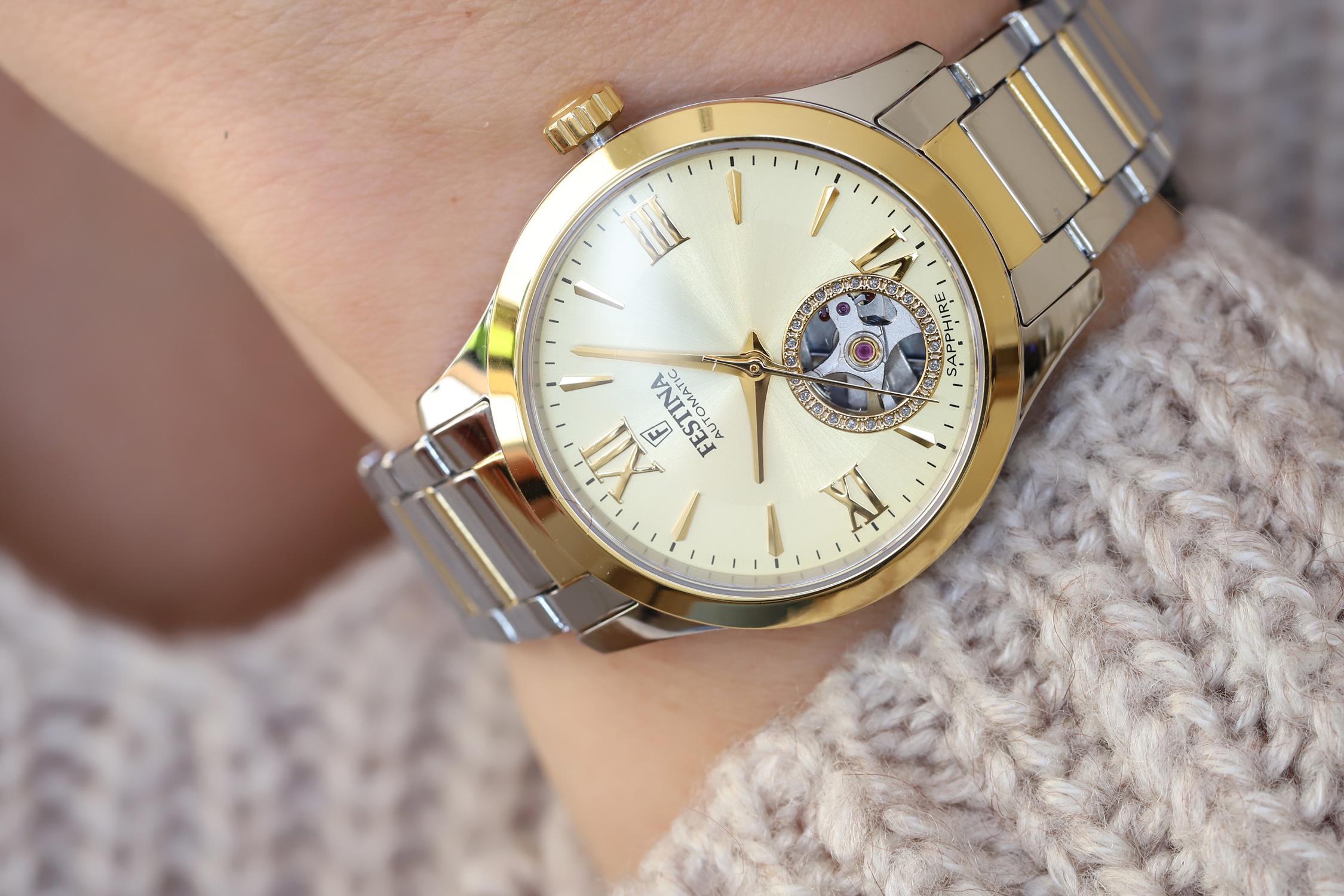 Festina F20489-2 zegarek srebrny klasyczny Classic bransoleta