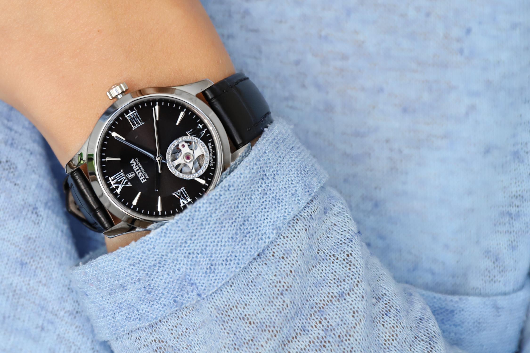 Festina F20490-3 zegarek srebrny klasyczny Classic pasek