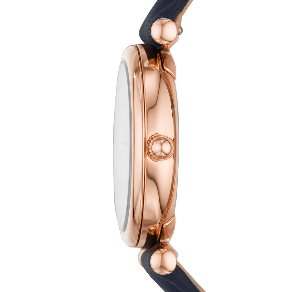 Fossil ES4502 zegarek różowe złoto klasyczny Carlie pasek