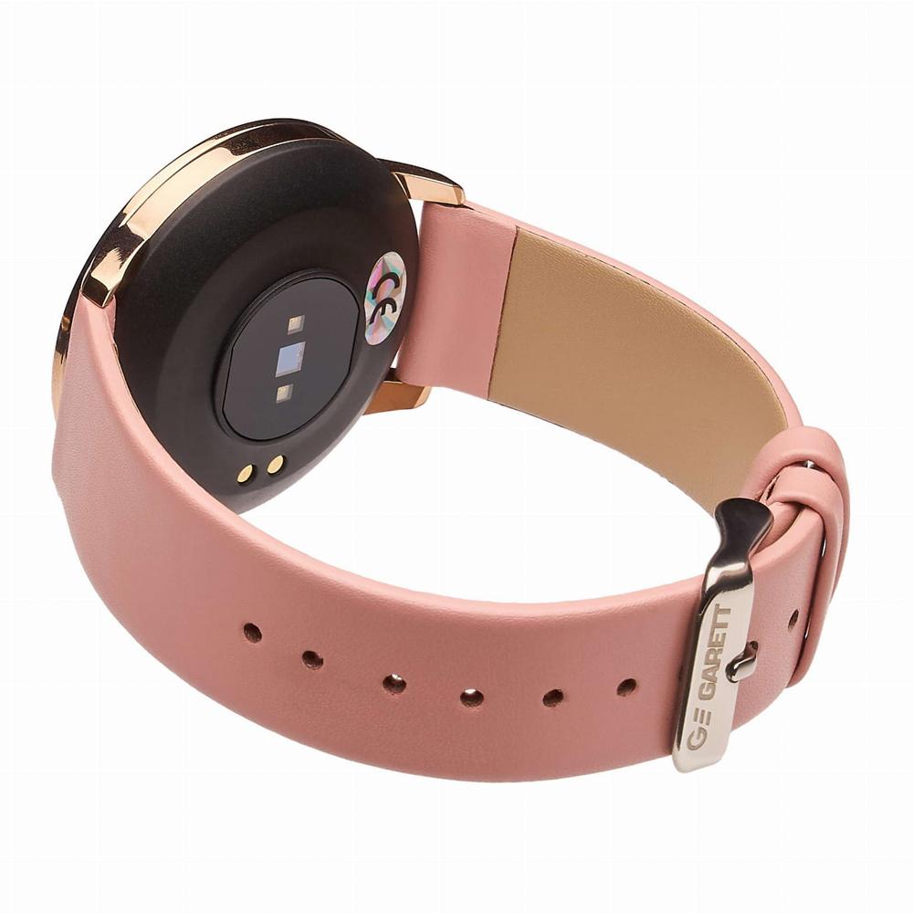 Garett 5903246282290 zegarek różowe złoto sportowy Damskie pasek