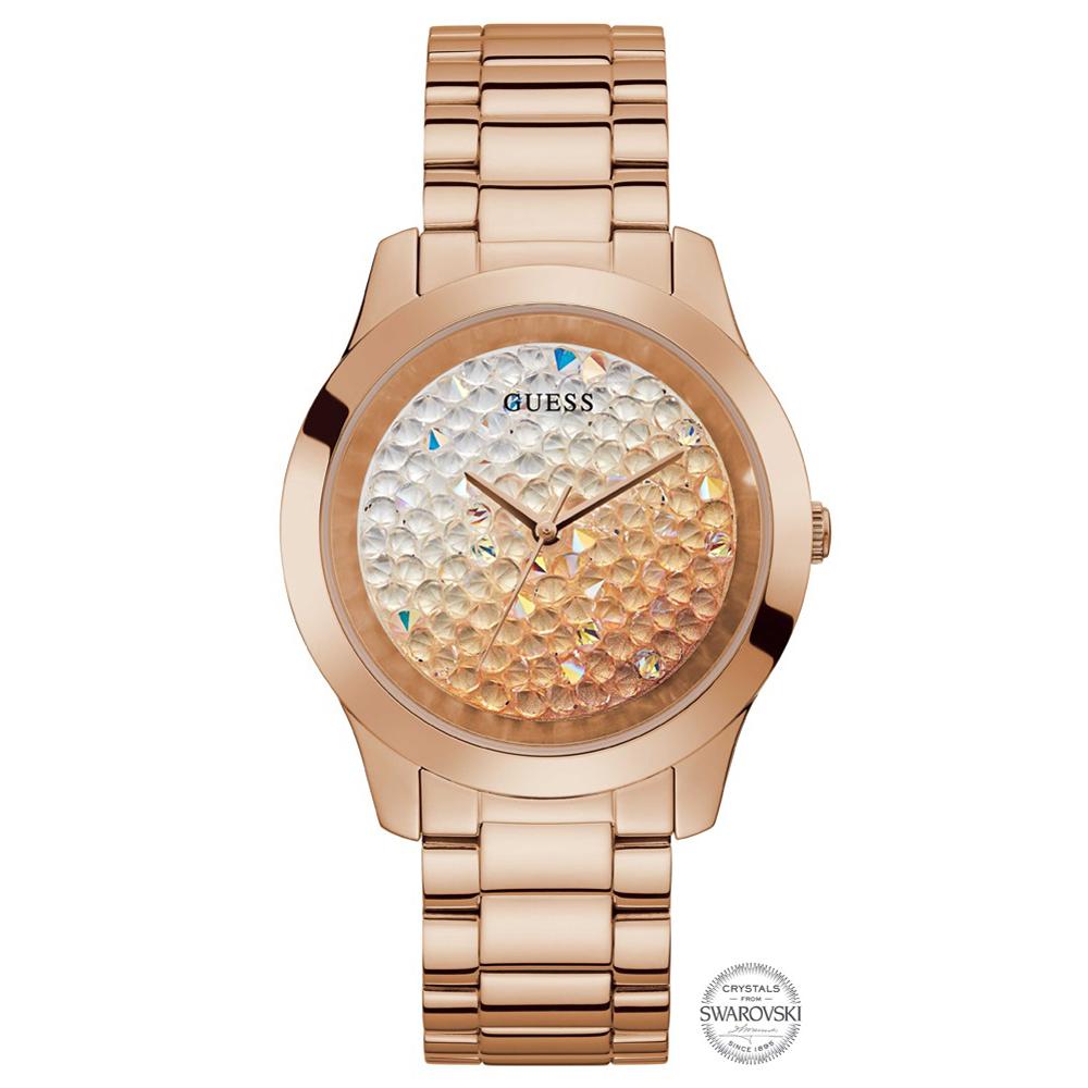 Guess GW0020L3 zegarek różowe złoto klasyczny Bransoleta bransoleta