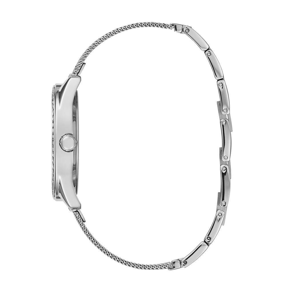 Guess W1279L1 zegarek srebrny klasyczny Bransoleta bransoleta