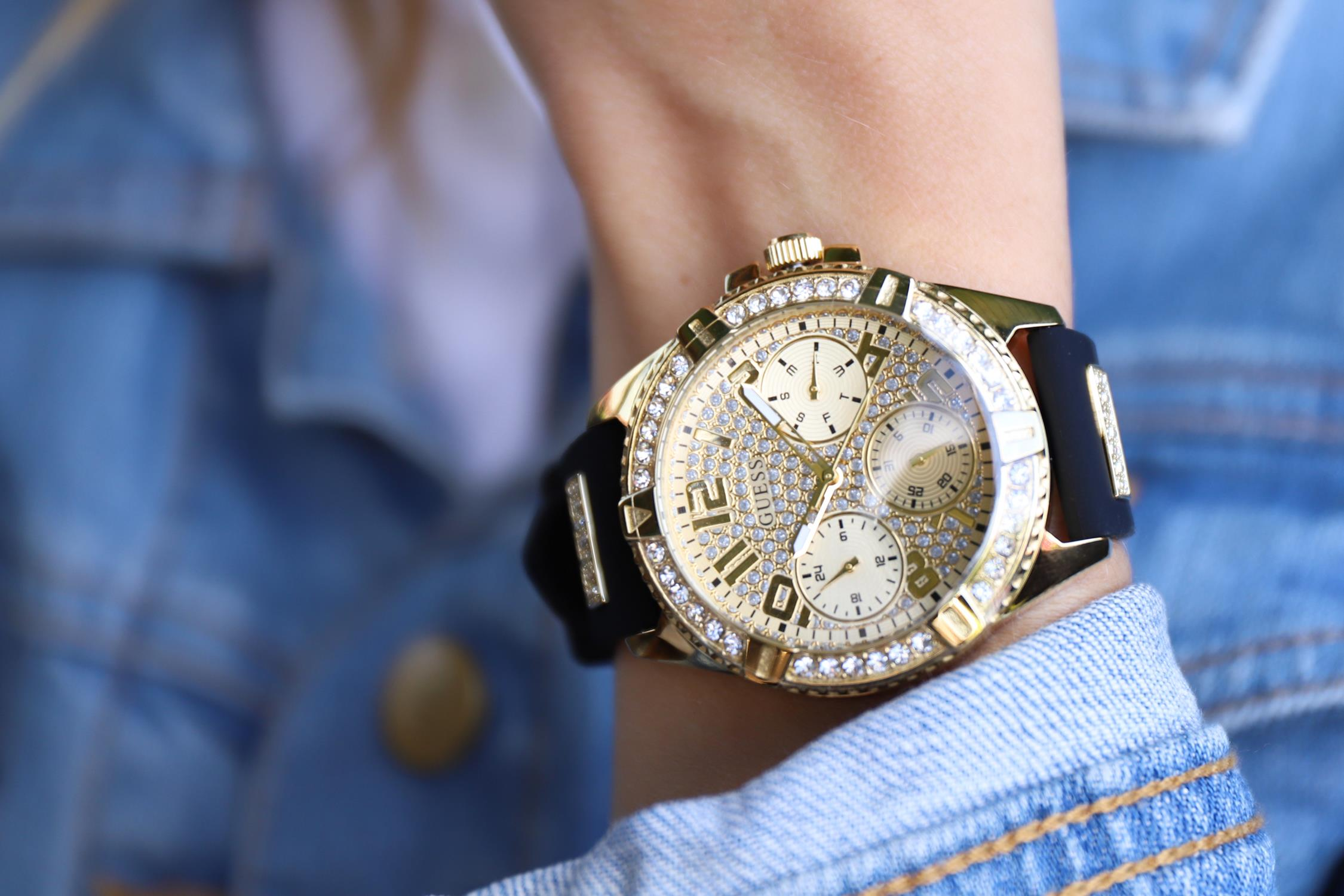 zegarek Guess W1160L1 kwarcowy damski Pasek WW1160FLSWC