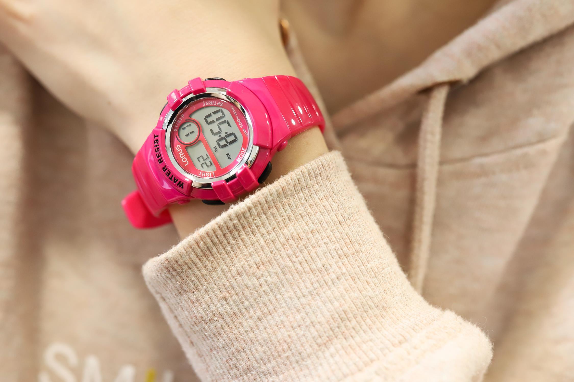 Lorus R2387HX9 Sportowe sportowy zegarek różowy
