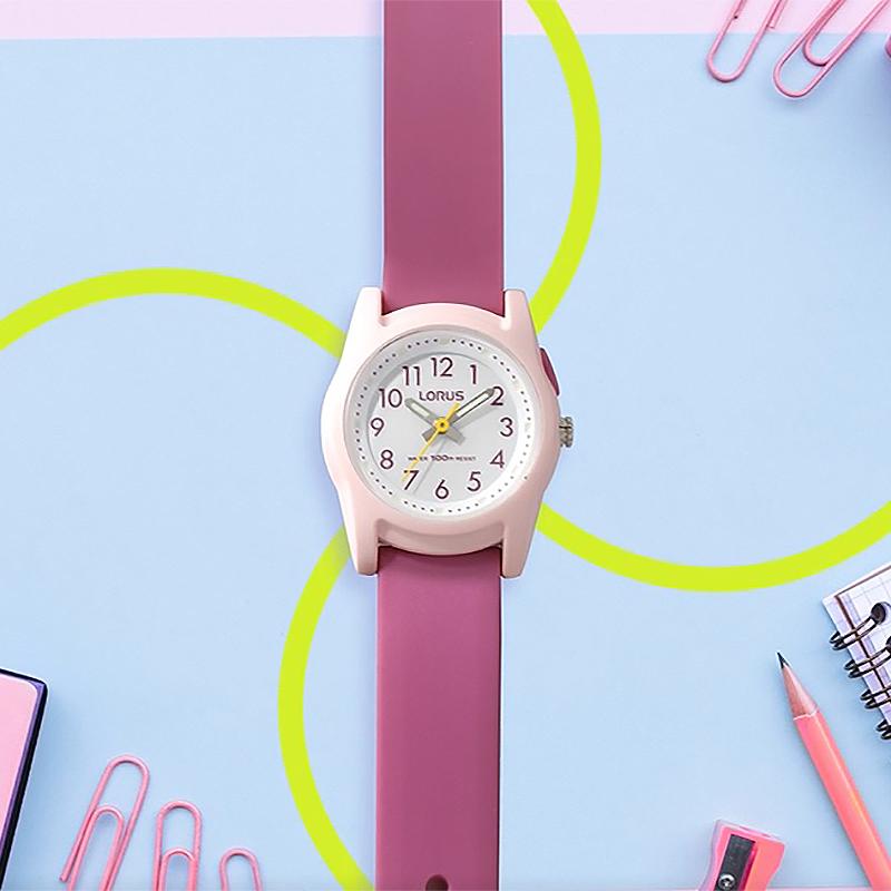 Lorus R2389MX9 zegarek różowy sportowy Dla dzieci pasek