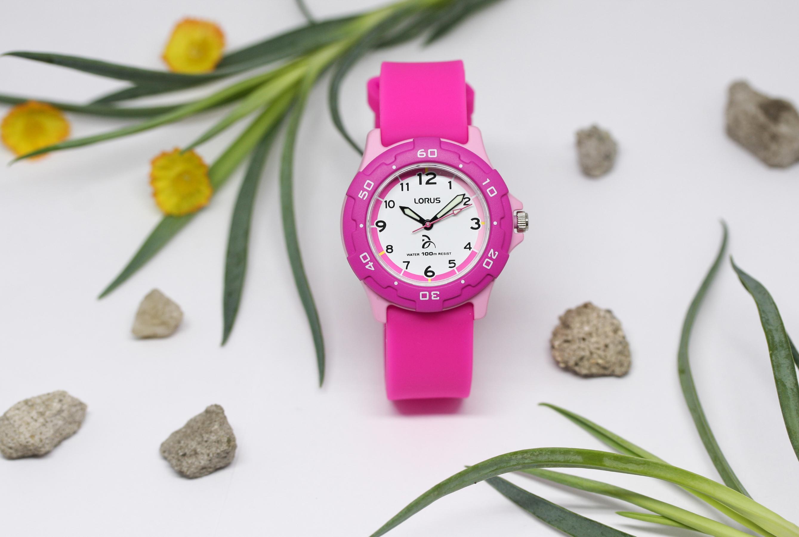 Lorus RRX17GX9 zegarek różowy sportowy Dla dzieci pasek