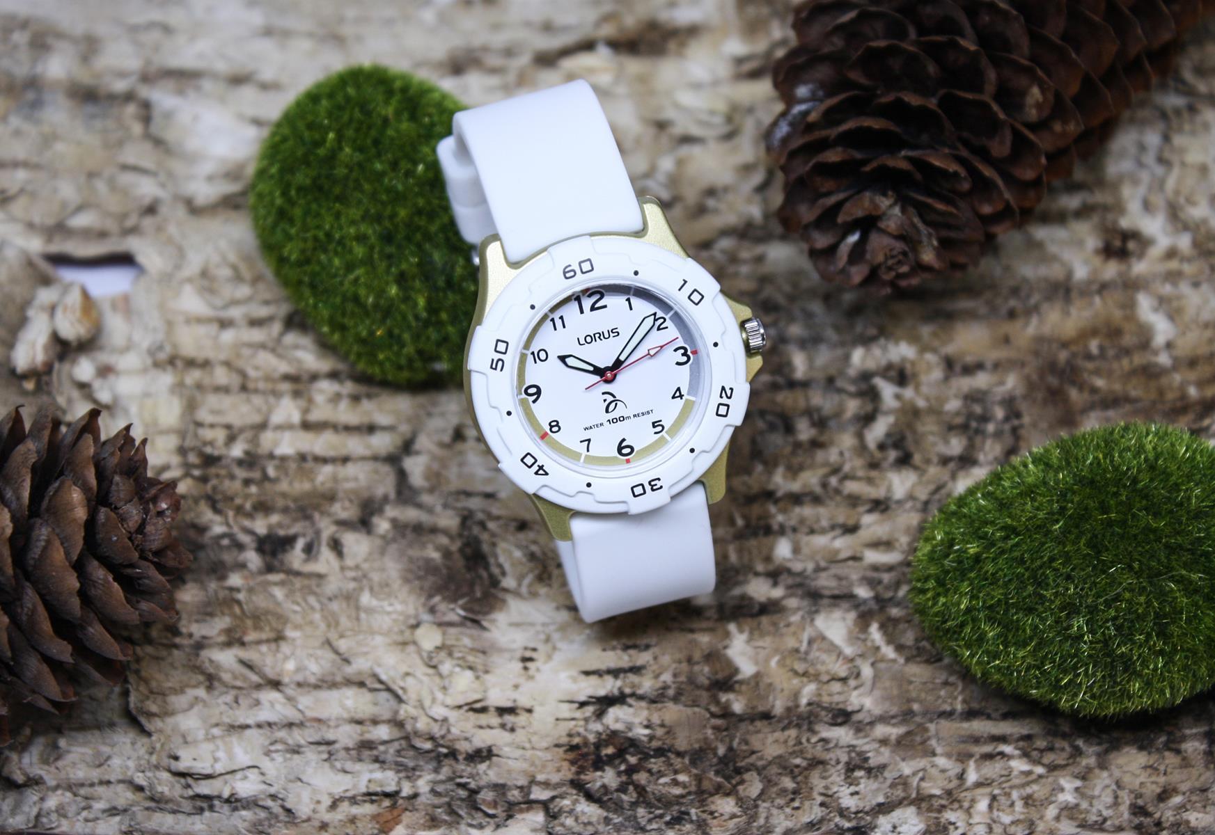 Lorus RRX21GX9 zegarek biały sportowy Dla dzieci pasek