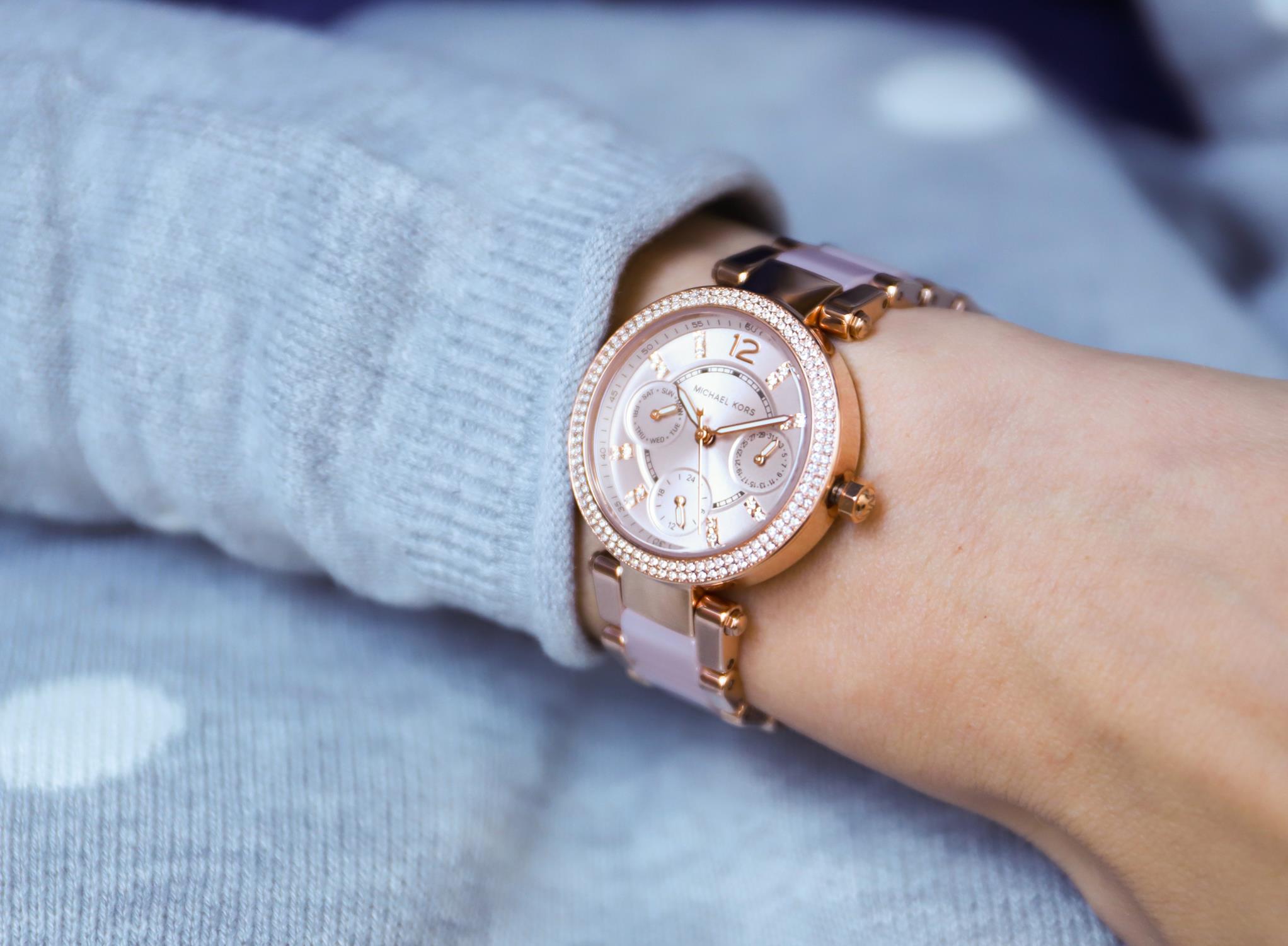 zegarek Michael Kors MK6110 różowe złoto Parker