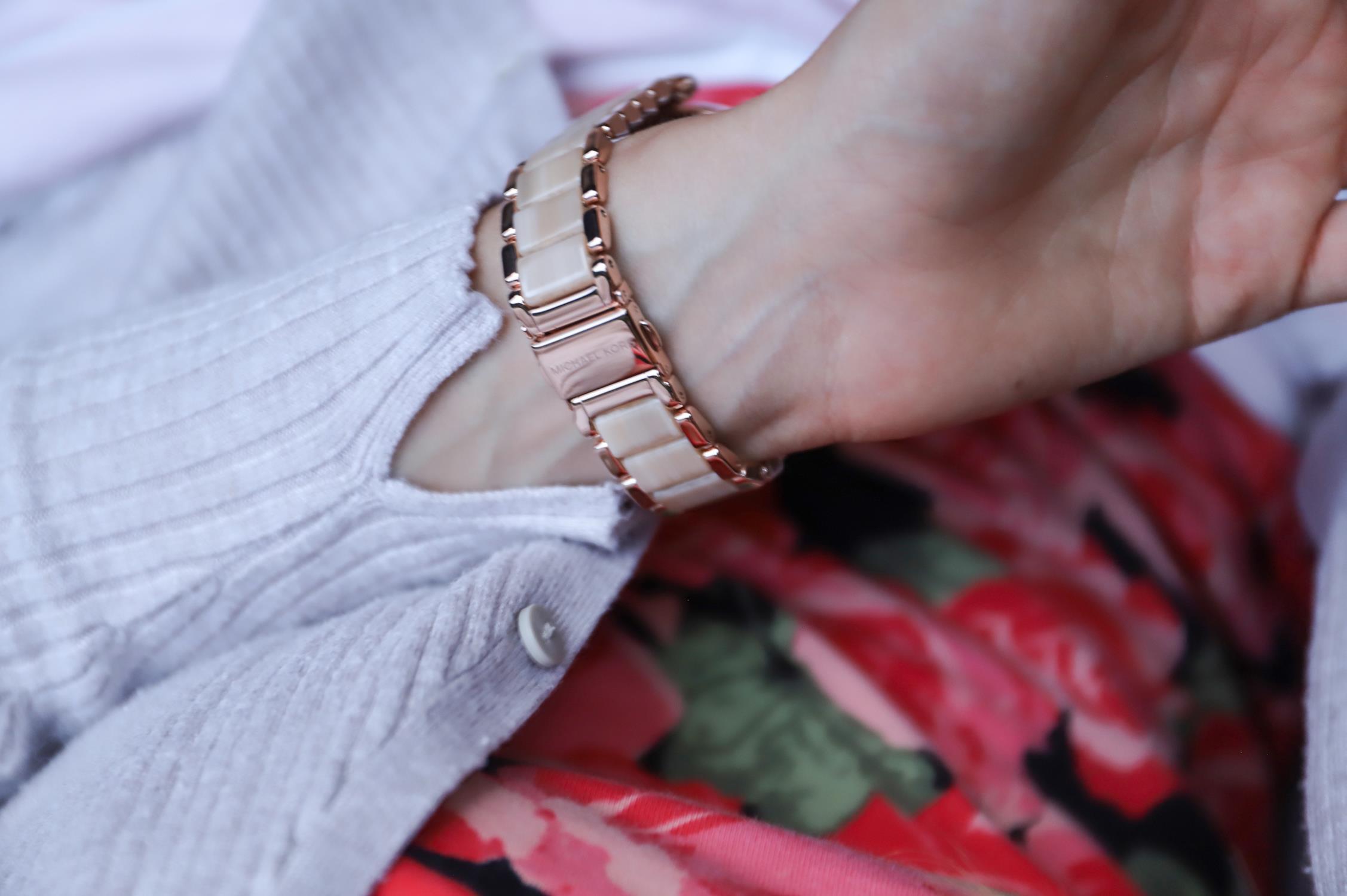 Michael Kors MK6530 PARKER Parker klasyczny zegarek różowe złoto