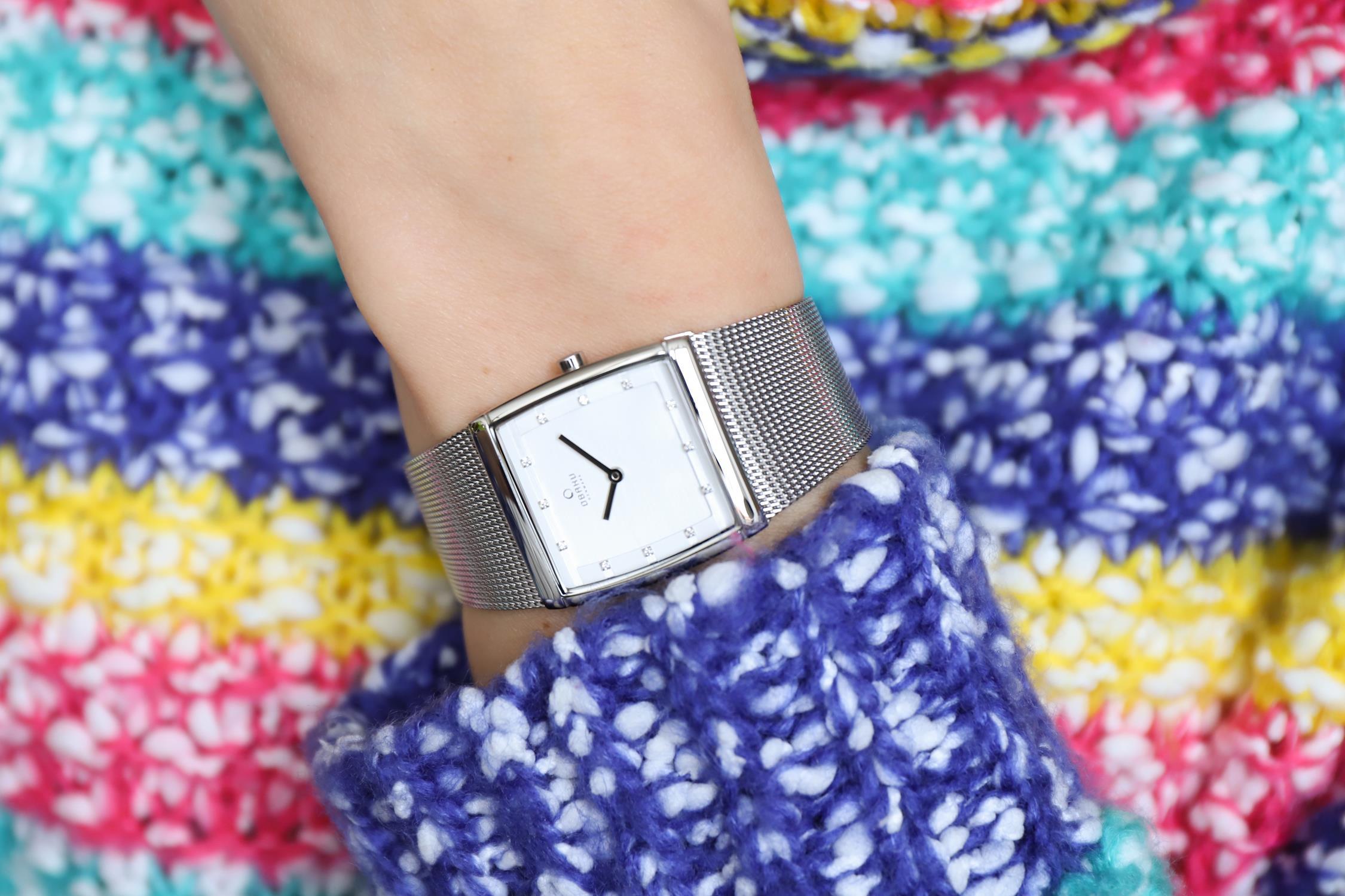Obaku Denmark V102LCCMC zegarek srebrny klasyczny Slim bransoleta