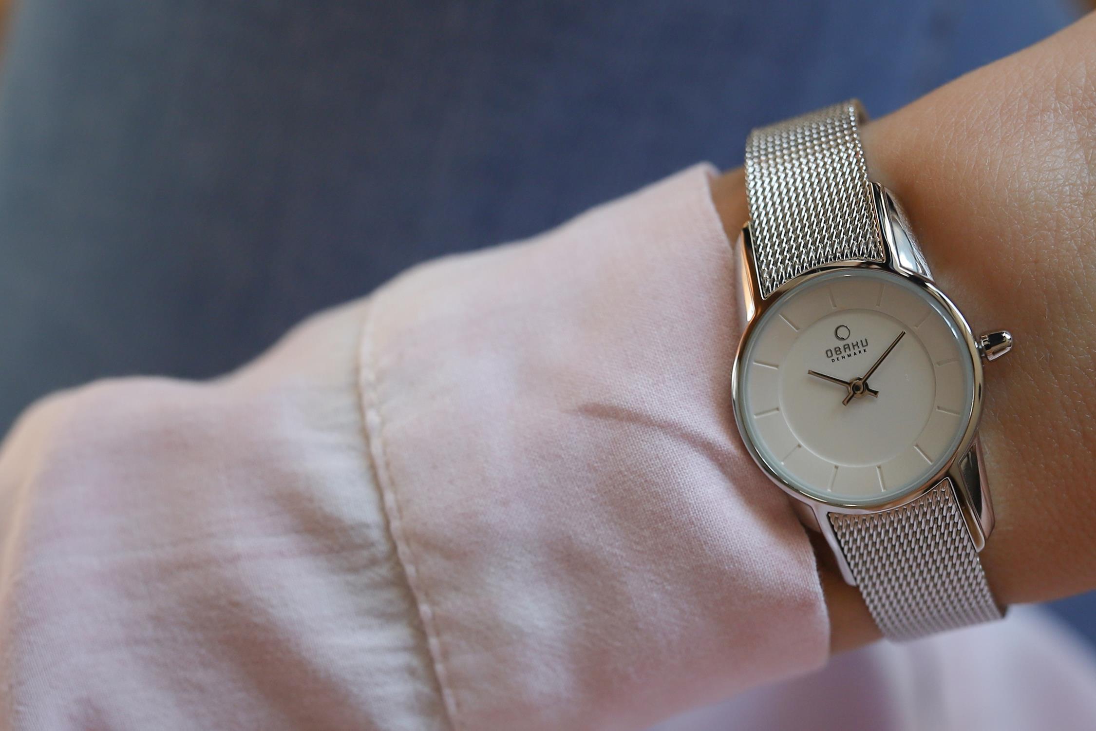 Obaku Denmark V130LCIMC damski zegarek Slim bransoleta