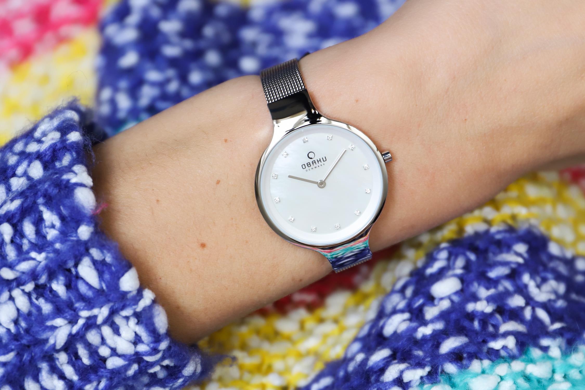 Obaku Denmark V173LXCIMC zegarek srebrny fashion/modowy Slim bransoleta