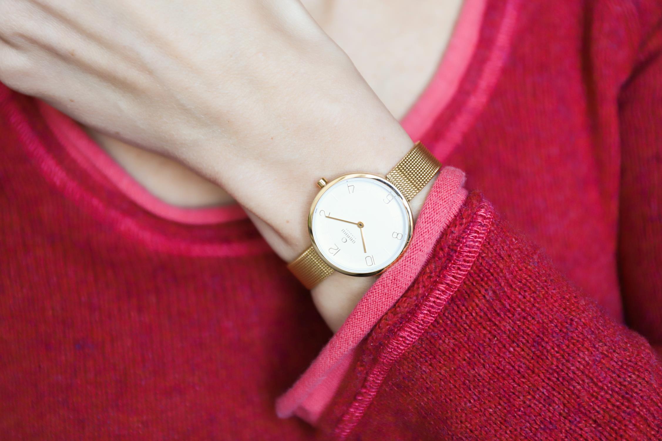 Obaku Denmark V195LXGIMG zegarek złoty fashion/modowy Slim bransoleta