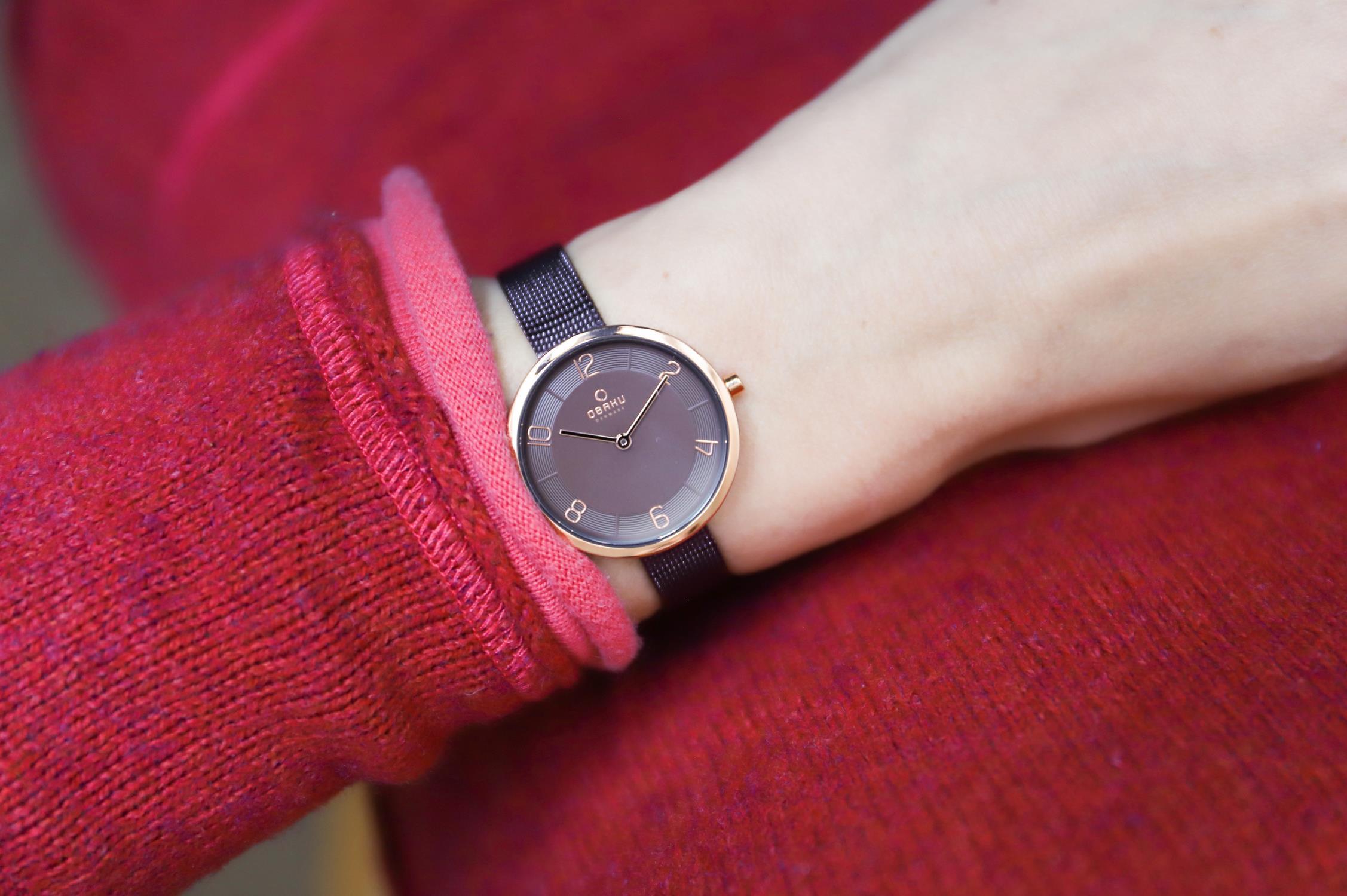 Obaku Denmark V195LXVNMN zegarek damski fashion/modowy Slim bransoleta
