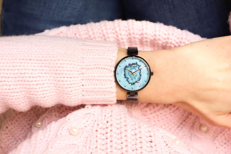 Pierre Ricaud P22109.B145Q zegarek czarny klasyczny Bransoleta bransoleta